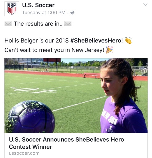 She believes hero FB
